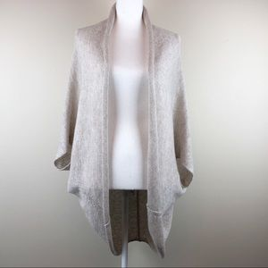 ZARA | Cream Cozy Cardigan Cocoon Wrap Sweater MED
